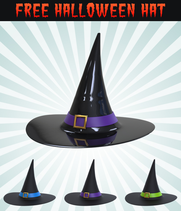 3D Halloween Hat Icon