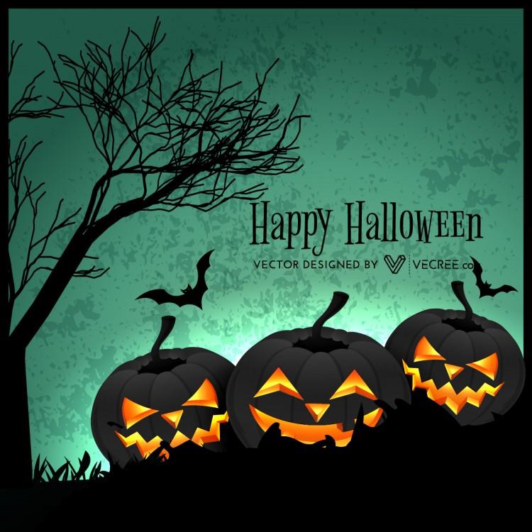 Creepy Halloween Design Free Vector
