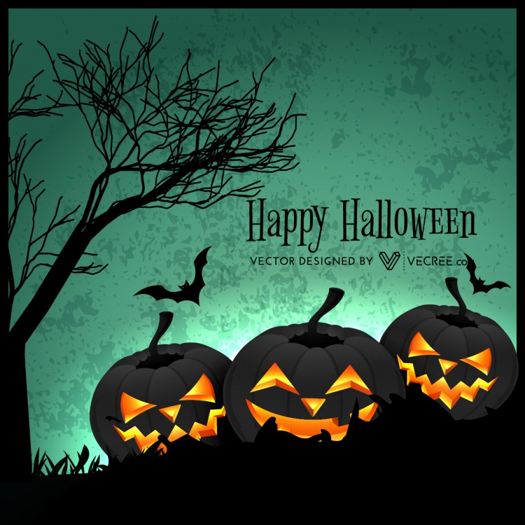 Creepy Halloween Design Free Vector