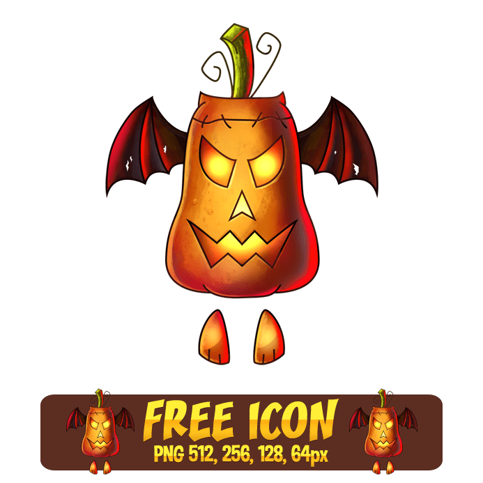 Flying Pumpkin Icon