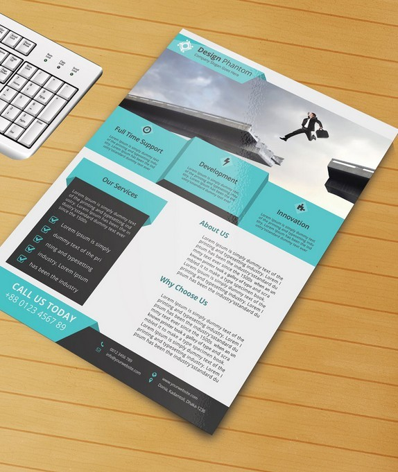 Free Flyer PSD Template
