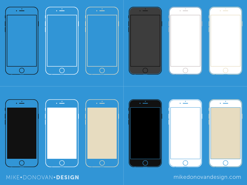 IPHONE 6 WIREFRAME COLLECTION
