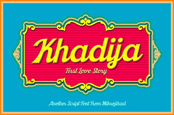 Khadija - Free Font