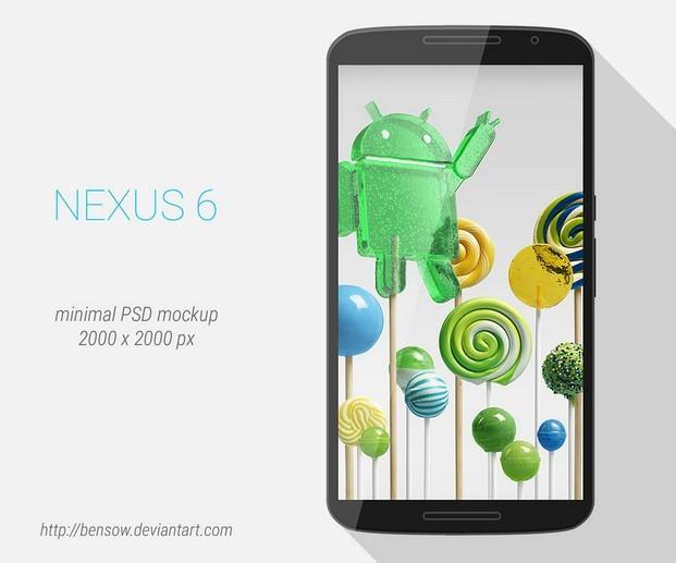 Motorola Nexus 6 PSD Mockup