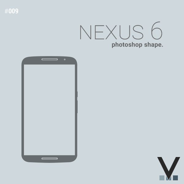 Nexus 6 photoshop shape
