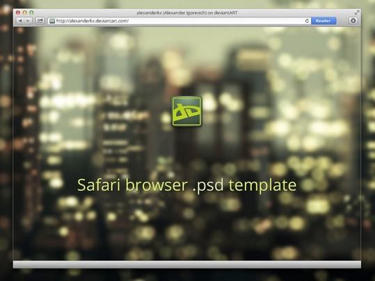 Safari browser psd template