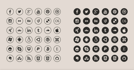 Technology Media Icons