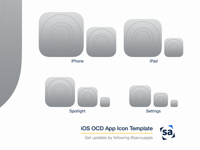 iOS 8 OCD App Icon Template