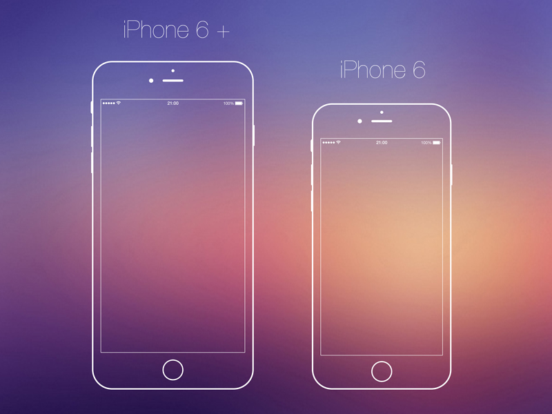 iPhone6 Vector PSD
