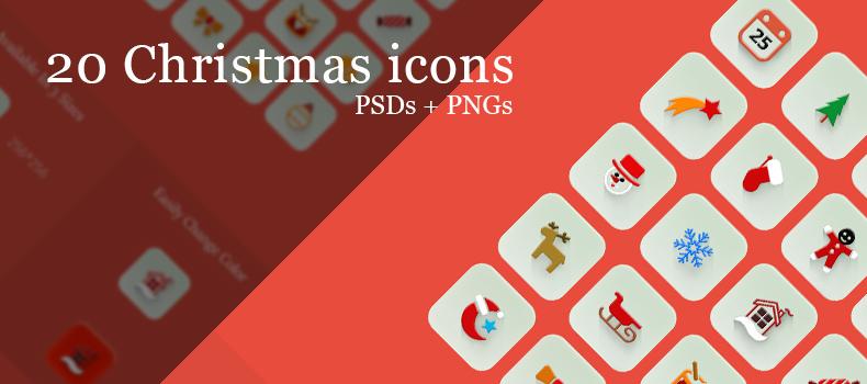 20 christmas Icons