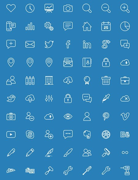 274 Vector Line Icons