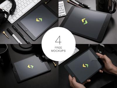 4 iPad mockups