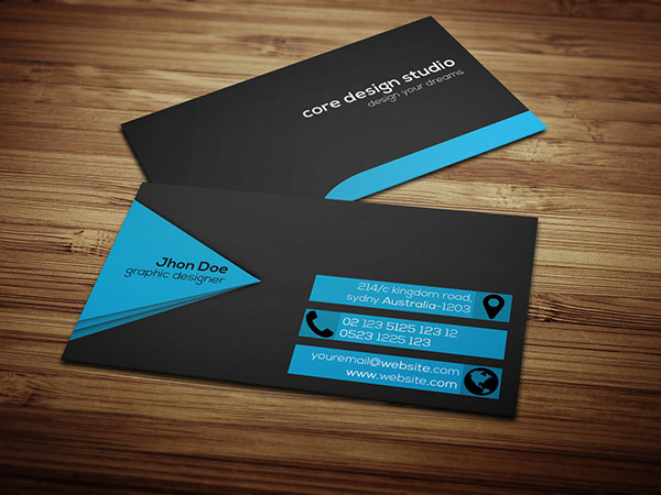 Black & stylish Business card
