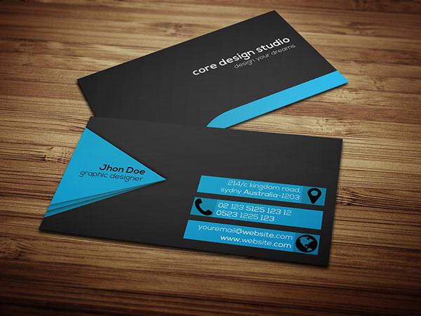 Black & stylish Business card