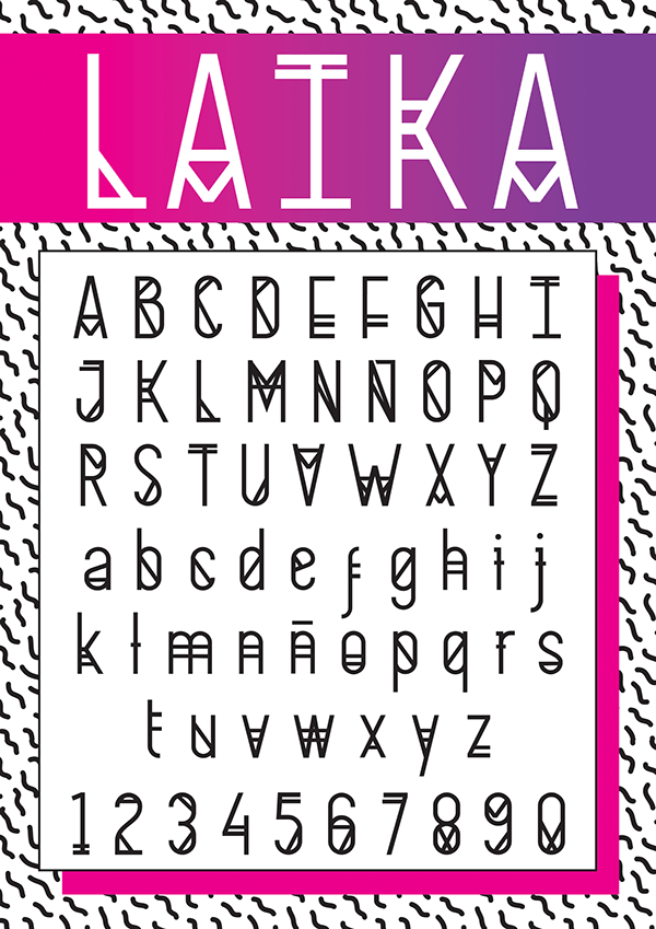 LAIKA THE SPACE Font
