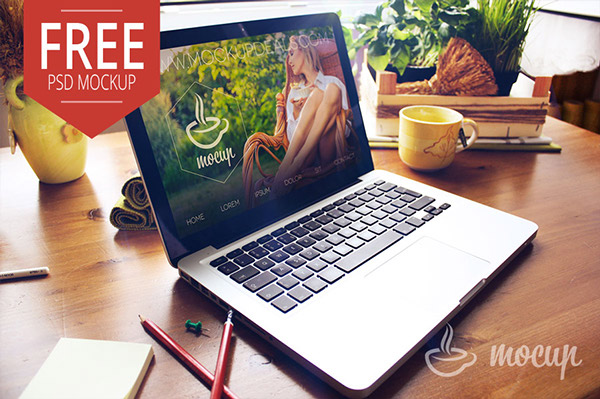 Macbook PSD Mockup Creative