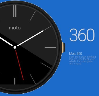 Moto 360 PSD