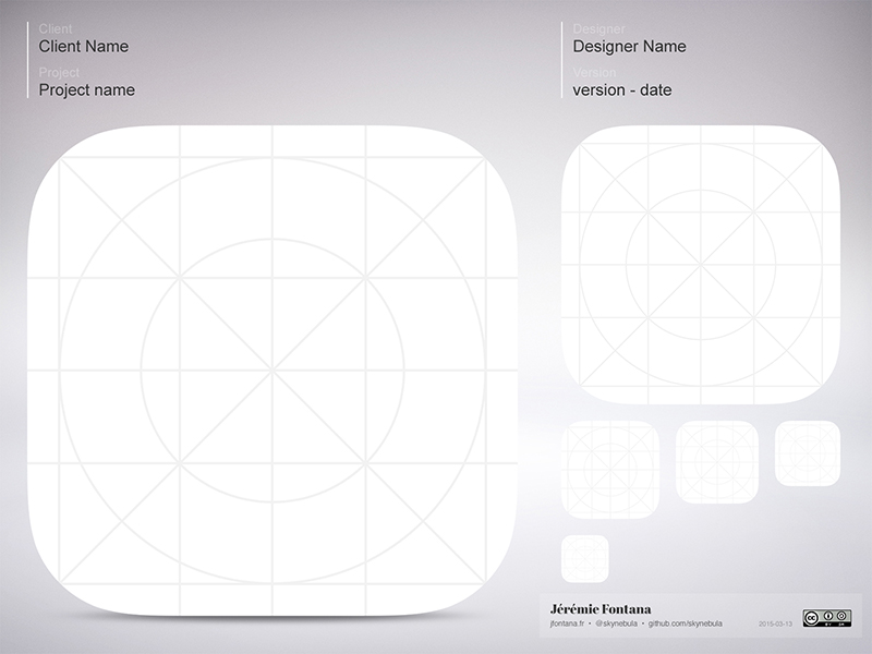 iOS Icon Template