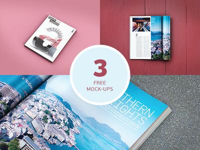 3 Magazine Mockups