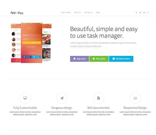 App-Plus Free App Landing Page