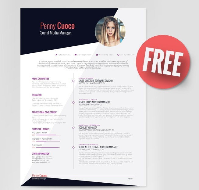 Askella - FREE Resume Template