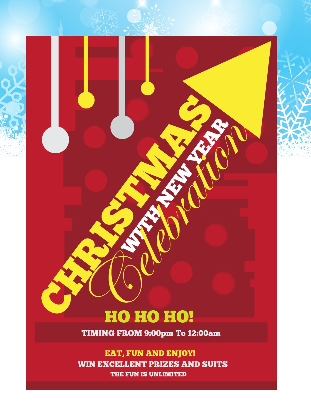 Christmas Flyer and New Year Freebie Design