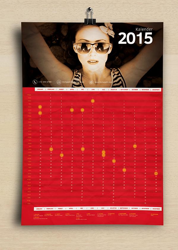 Free Calendar 2015 Template