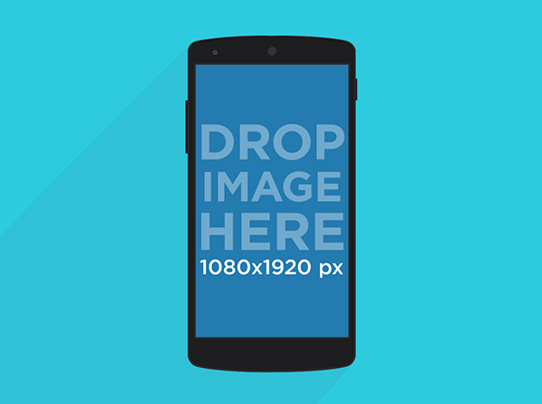 Free illustrated Nexus 5 Mockup