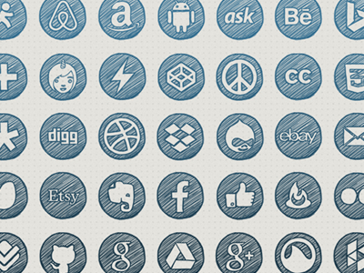 Hand-drawn Social Icons