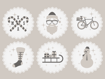 Hipster Christmas Icons