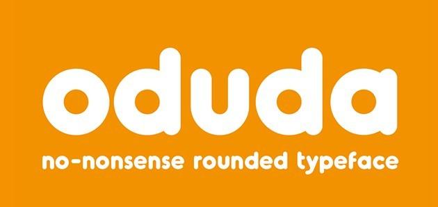 Oduda - rounded typeface