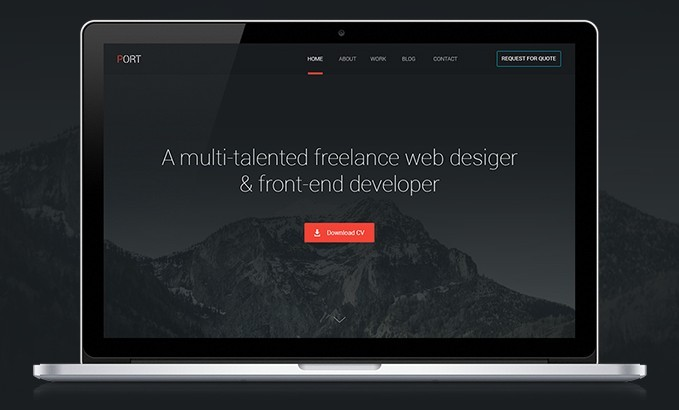 PORT- Free One-page PSD-template