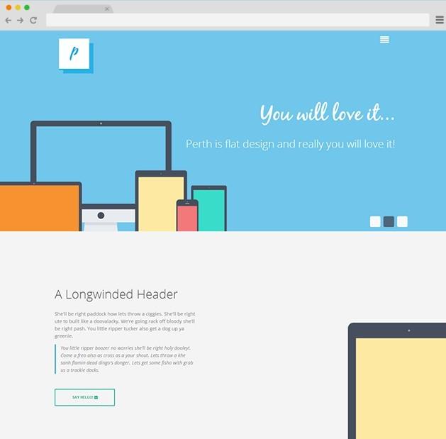 Perth Free HTML&PSD Theme