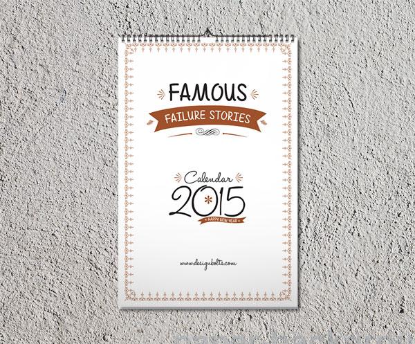 Printable Free Calendar 2015 Design Template