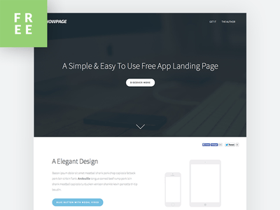 ShowPage - A Free Easy To Use App Landing Page