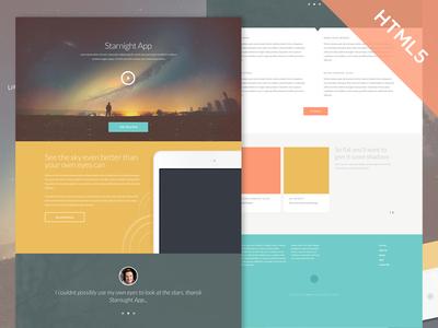 Starnight HTML5 CSS3 Website Template