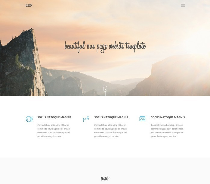 Uno – HTML5 One Page Website Template
