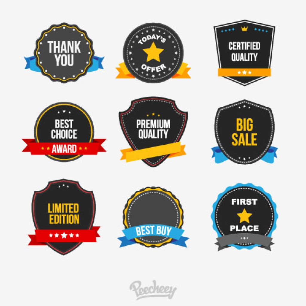 Commercial stickers set
