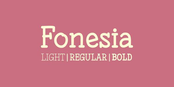 Fonesia - Free Font