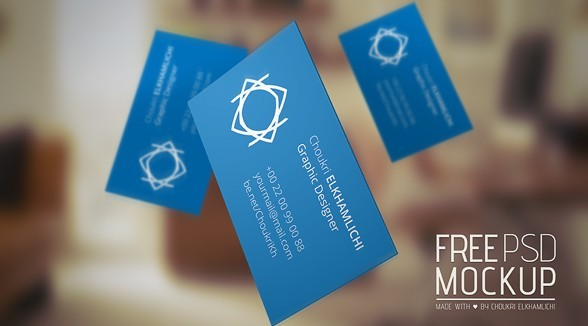 Free PSD Mockup - Business card