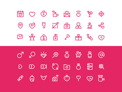 Free Valentine's Day icon set