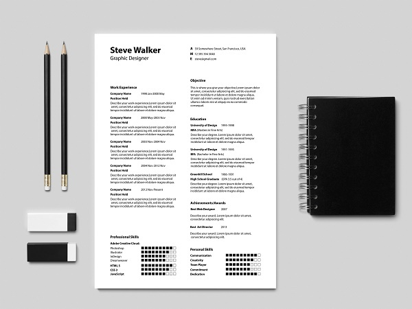 Light Minimal Resume