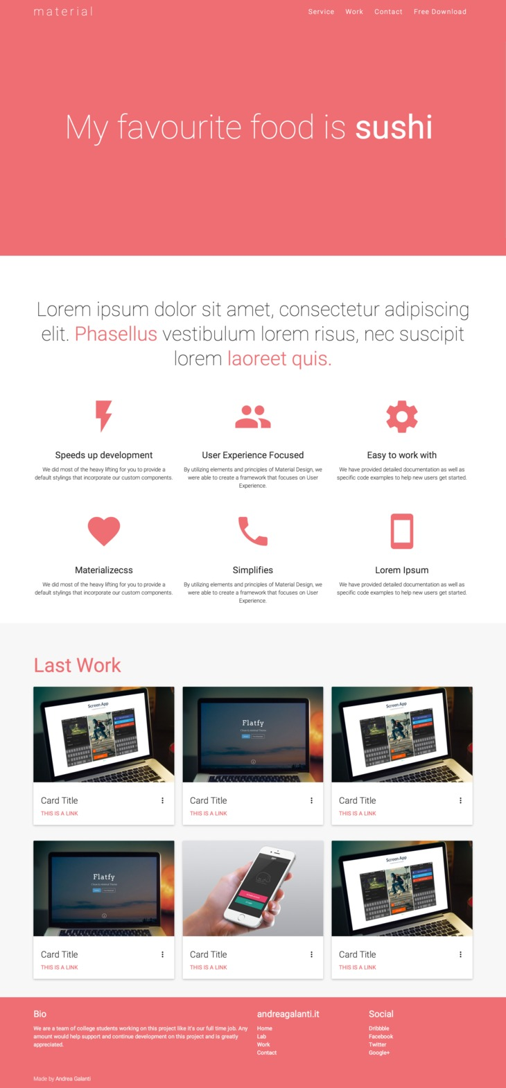 Material HTML Base Theme