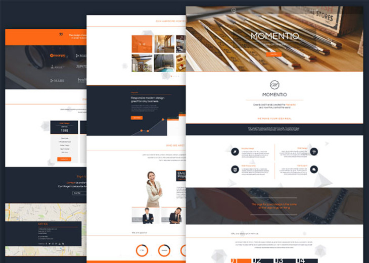 Momentio - Free HTML Single Page Web Theme