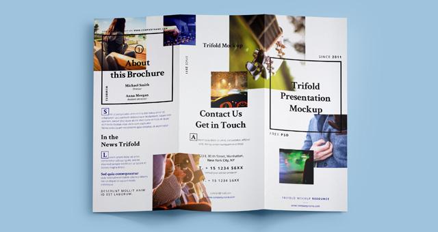 Psd Tri Fold Mockup Template