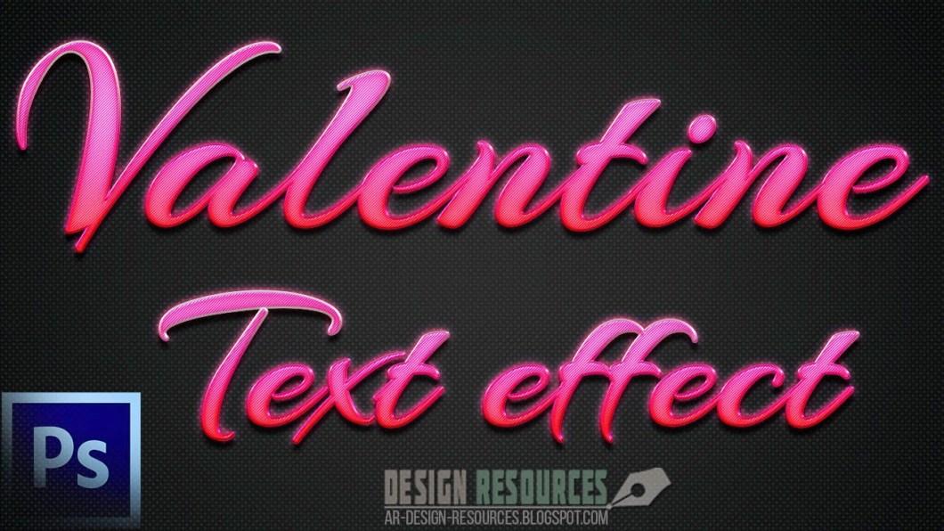 Valentine Text Effect