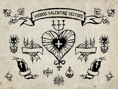 Voodoo Vector Valentines day vector Elements Freebie