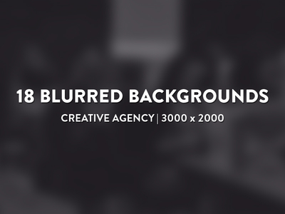 18 Blurred Backgrounds