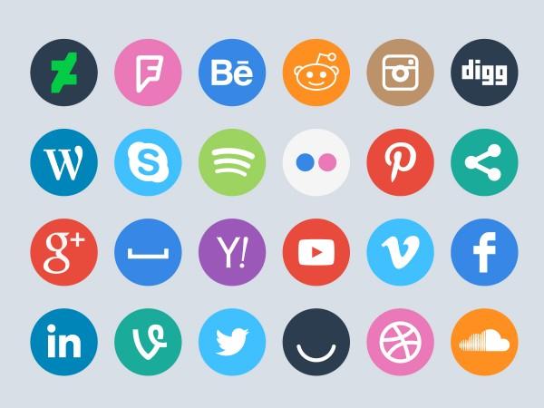 60 FREE Vector Social Media Icons