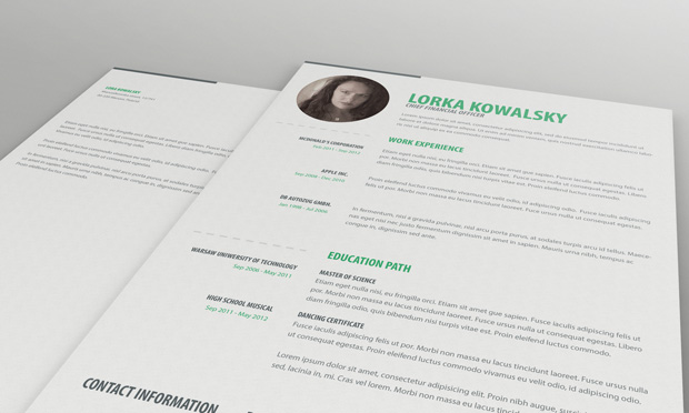 Free Simple Resume CV Template
